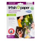 Fresh Photo Paper 180gsm Gloss 6x4 Pack 25