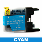 Brother LC73/75/73XL Cyan Ink Cartridge Compatible