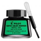 PILOT SUPER COLOUR PERMANENT MARKER BLACK 30ml REFILL